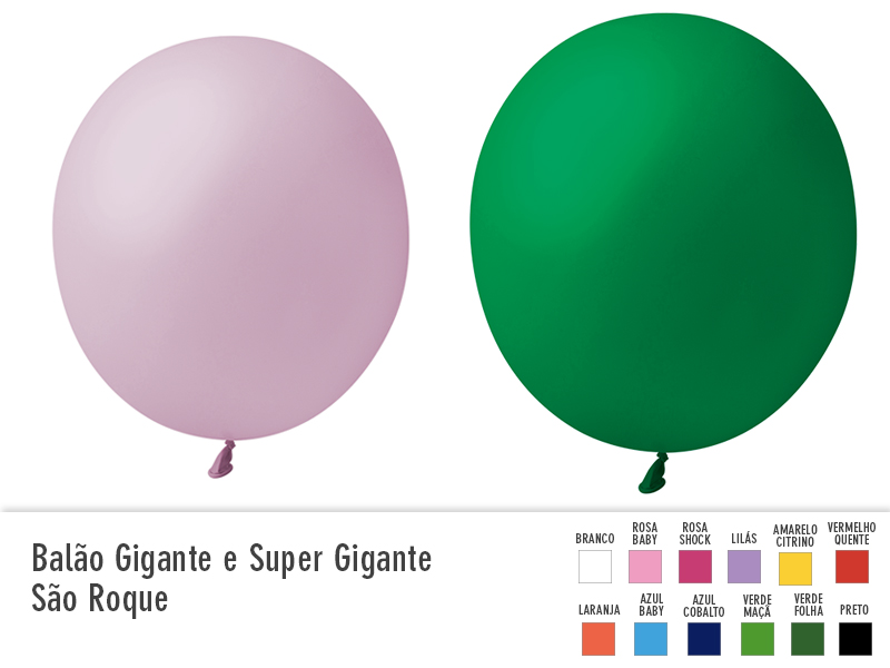 Balão Gigante e Super Gigante