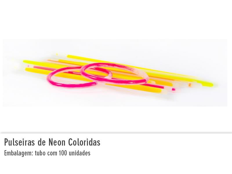 Pulseiras de Neon Coloridas