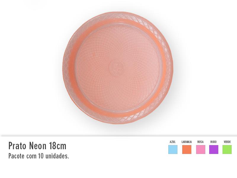 Prato Neon 18cm