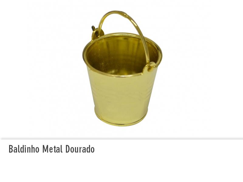 Baldinho Metal Dourado