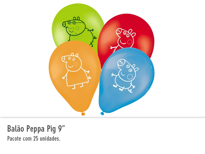 """Balão Peppa Pig 9"""""""