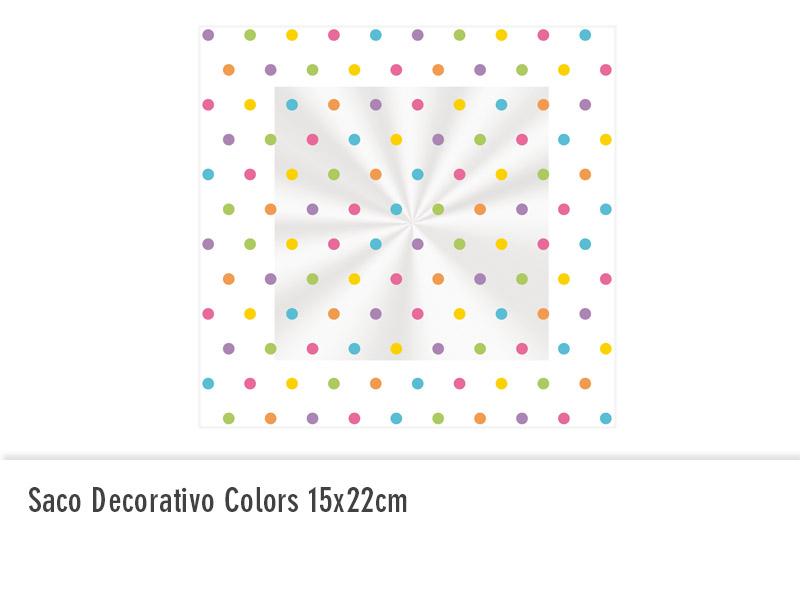 Saco decorativo colors 15x22cm