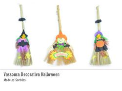 Vassoura Decorativa Halloween