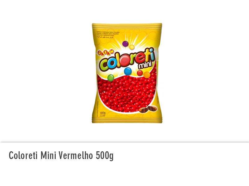 Coloreti Mini Vermelho 500g