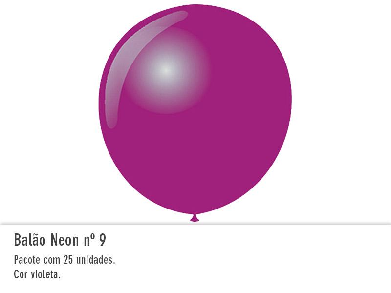 Balão Neon nº9