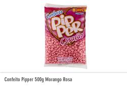 Confeito Pipper 500g Morango Rosa