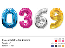 Balões Metalizados Números