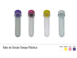 Tubo de ensaio com tampa plástica