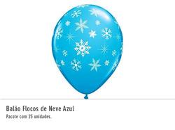 Balão Flocos de Neve Azul