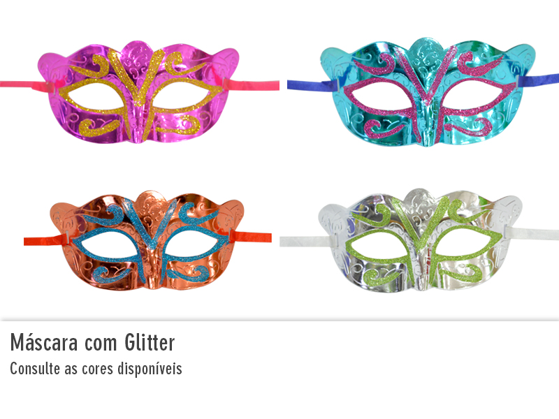 Máscara com Glitter