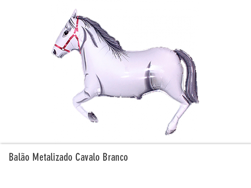 Balão Metalizado Cavalo Branco
