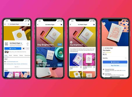 Novo recurso de e-commerce do facebook permite compras diretamente na plataforma!