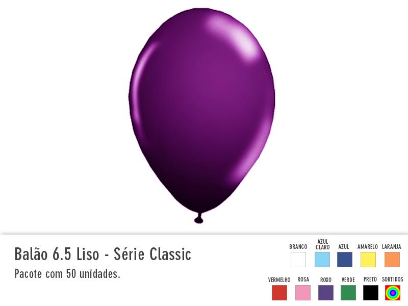 Balão 6,5 liso - Serie Classic