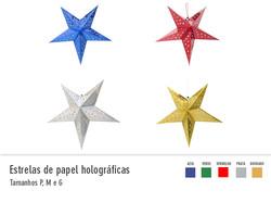 Estrelas de Papel Holográficas