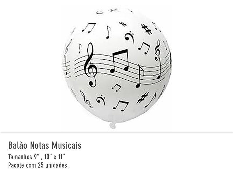 Balão Notas Musicais