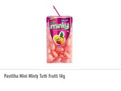 Pastilha Mini Minty Tutti Frutti 14g