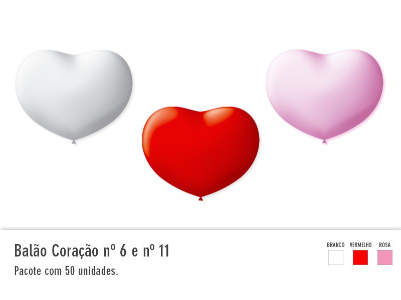 Balão Coração nº6 e nº11