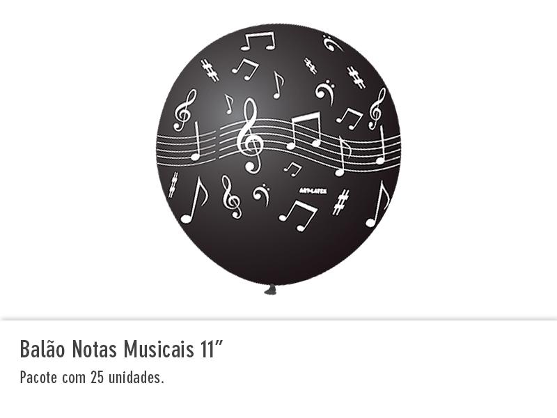 """Balão Notas Musicais 11"""""""
