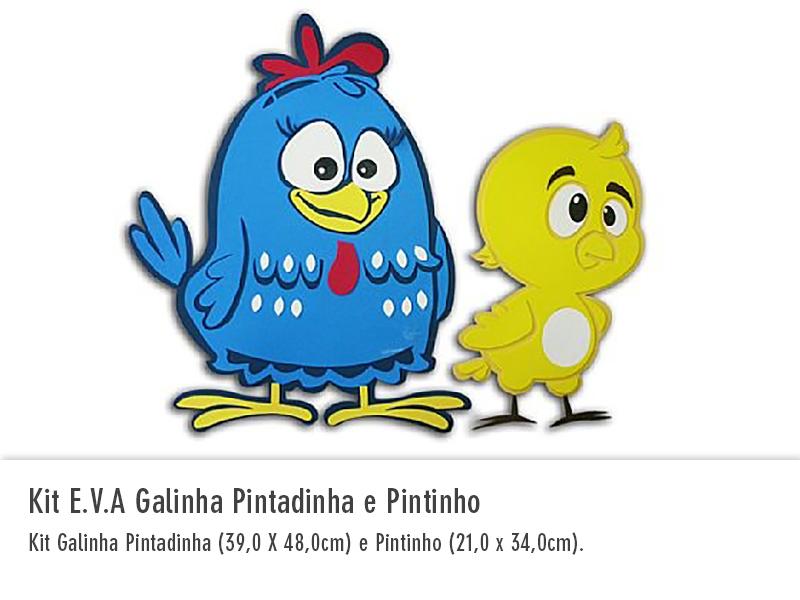 Kit EVA Galinha Pintadinha