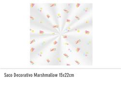 Saco decorativo marshmallow 15x22cm