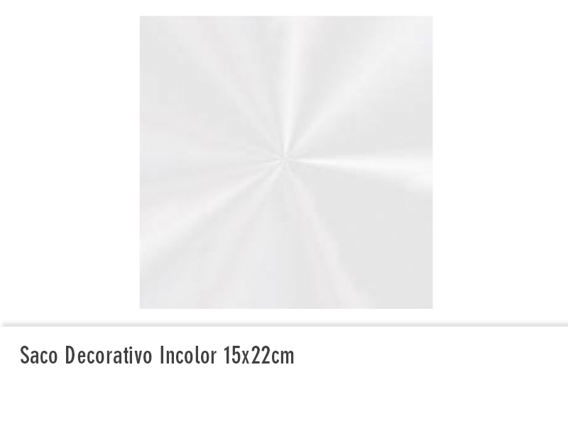Saco decorativo incolor 15x22cm