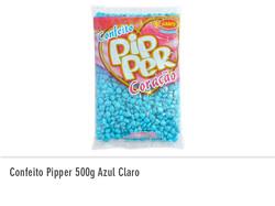 Confeito Pipper 500g Azul Claro