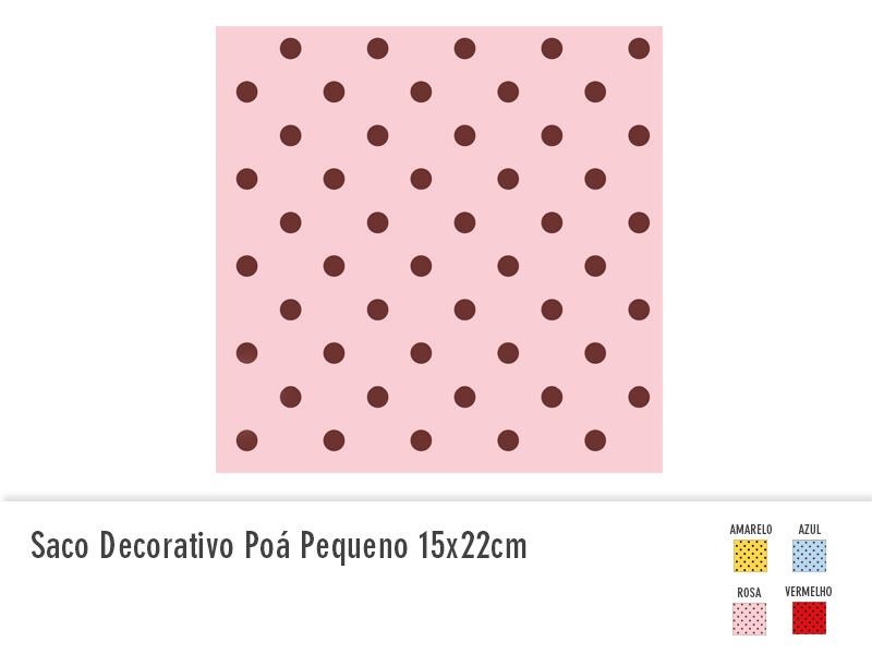 Saco decorativo poá pequeno 15x22cm