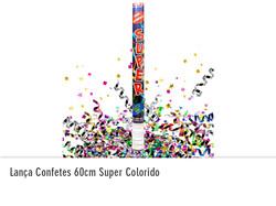 Lança Confetes 60cm Super Colorido