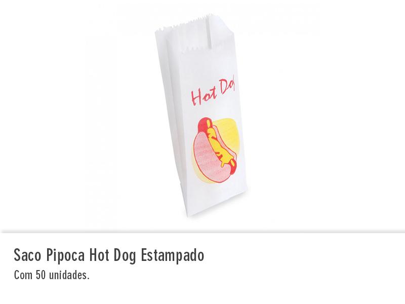 Saco Pipoca Hot Dog Estampado