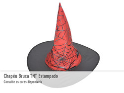 Chapéu de Bruxa TNT Estampado