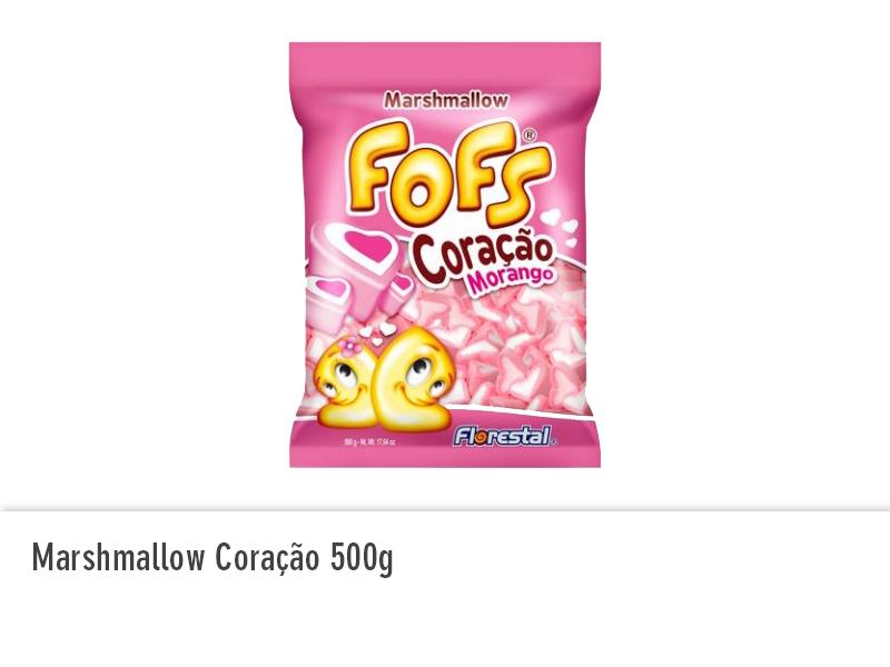 Marshmallow Coração 500g