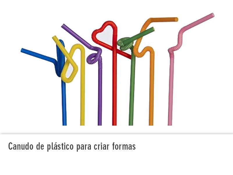 Canudo de Plástico para criar formas