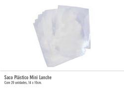 Saco Plástico Mini Lanche