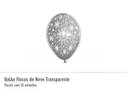 Balão Flocos de Neve Transparente