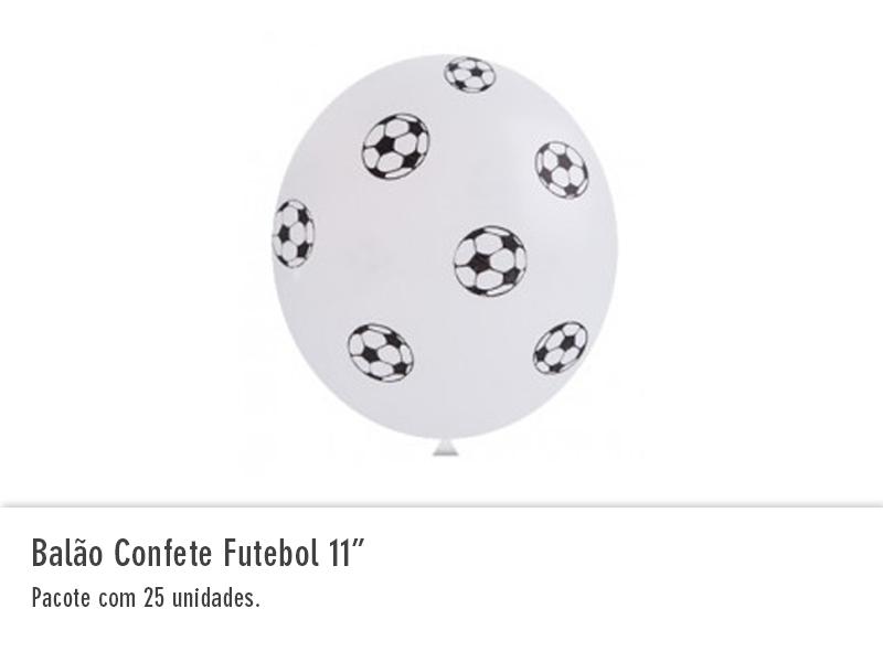 """Balão Confete Futebol 11"""""""