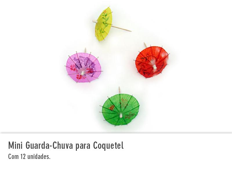Mini Guarda-Chuva para Coquetel