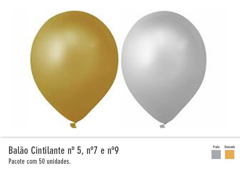 Balão Cintilante nº5, nº7 e nº9