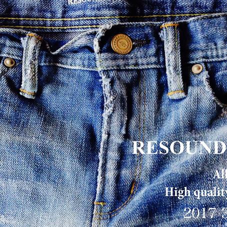 RESOUNDCLOTHING 3RDCOLLECTION 展示会
