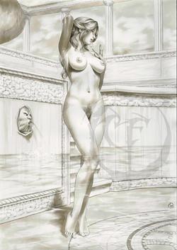 Helena having bath_