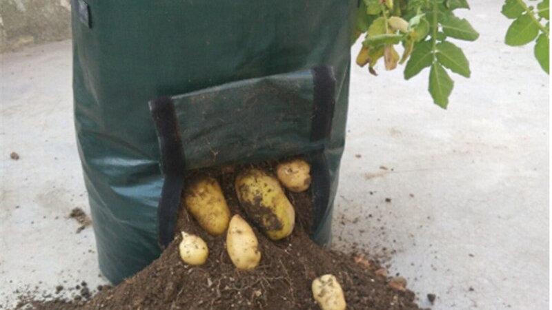Woven  Planting Bags Vegetable Garden Growing Planters Farm Home Garden Supplies