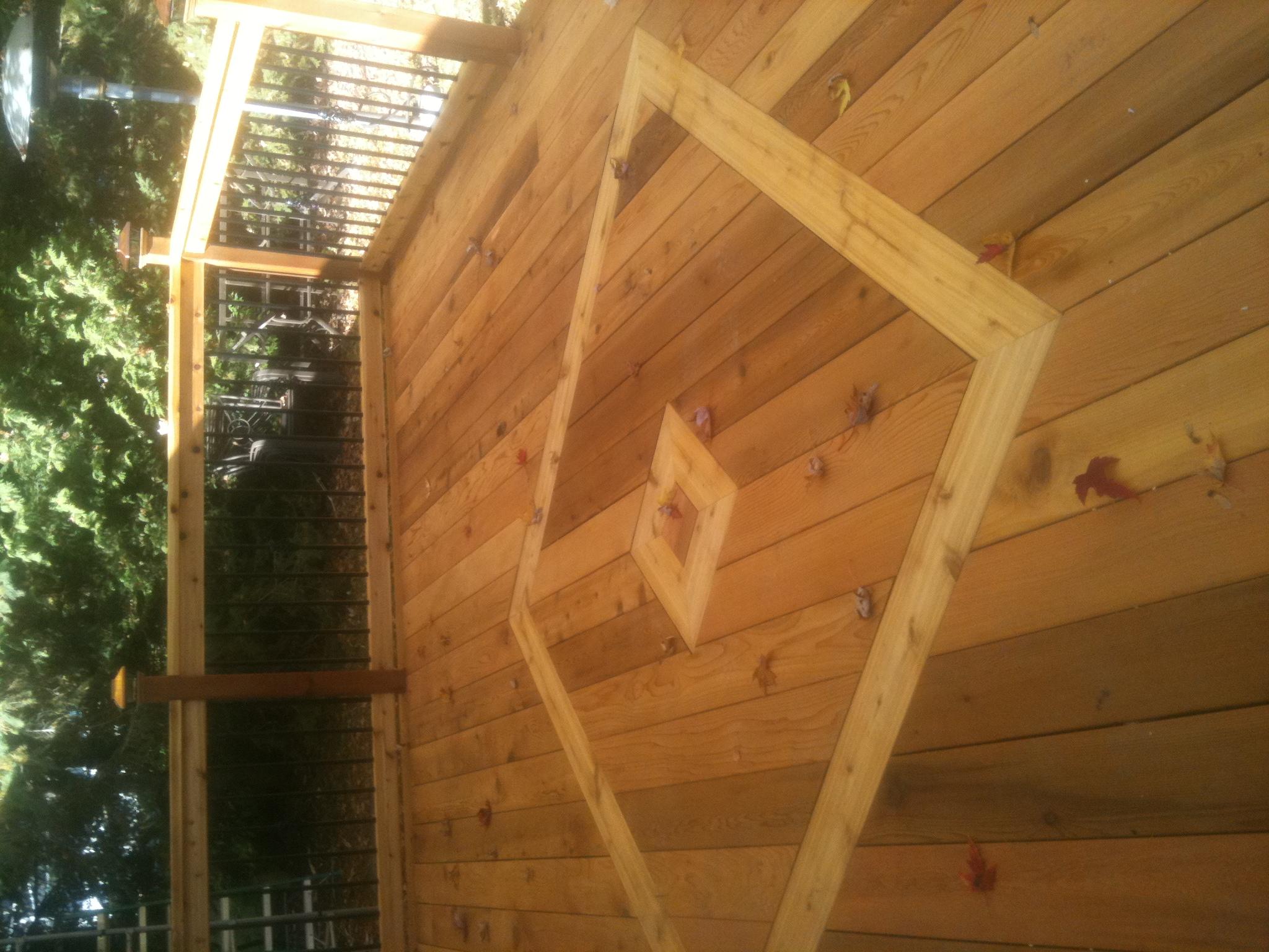Rons cedar deck #4