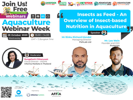Aquaculture Webinar Week: Insects as Feed - An Overview of Insect-based Nutrition in Aquaculture