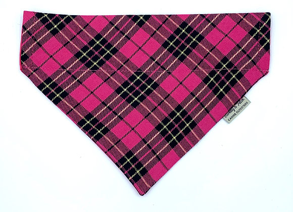 Pink/Gold Check Dog Bandana