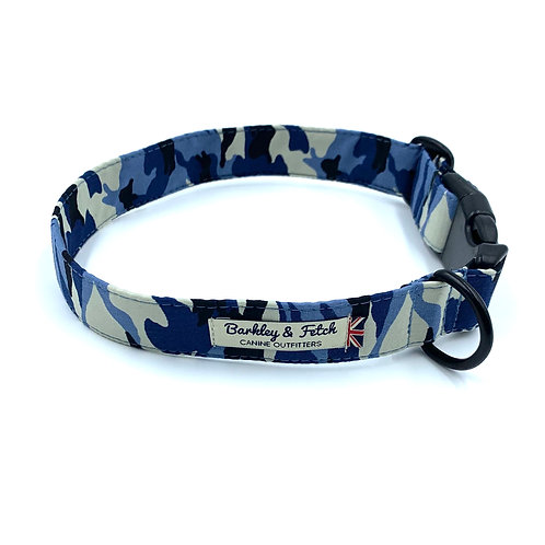 Blue Camo Dog Collar