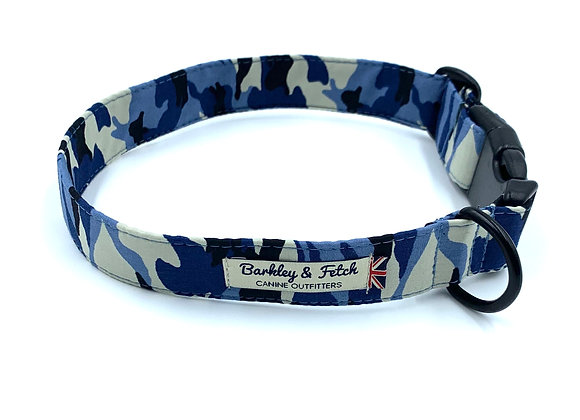 Blue Camo Dog Collar