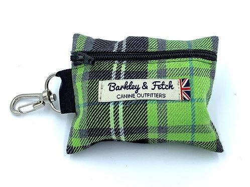 Green and Grey Tartan Poo Bag Holder