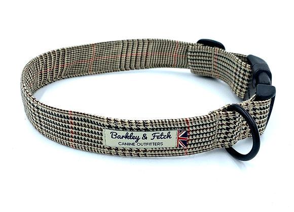 Brown Dogtooth Dog Collar