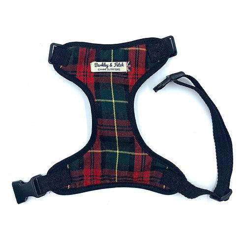 Red/Green Tartan Dog Harness
