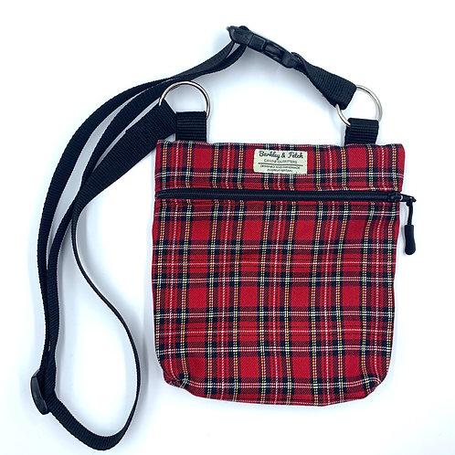 Red Tartan Dog Walk and Treat Bag
