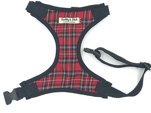 Red Tartan Fabric Harness
